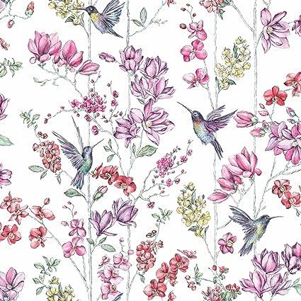 Fond D Ecran De Colibri Holden Charme Floral Blanc 12390 Amazon Fr Cuisine Maison