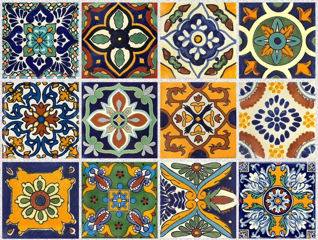 Tile Stickers Mexican Spanish 40pc 4-1/4in Peel and Stick for kitchen and bath Tr002-4Q by SnazzyDecal (Image #2)