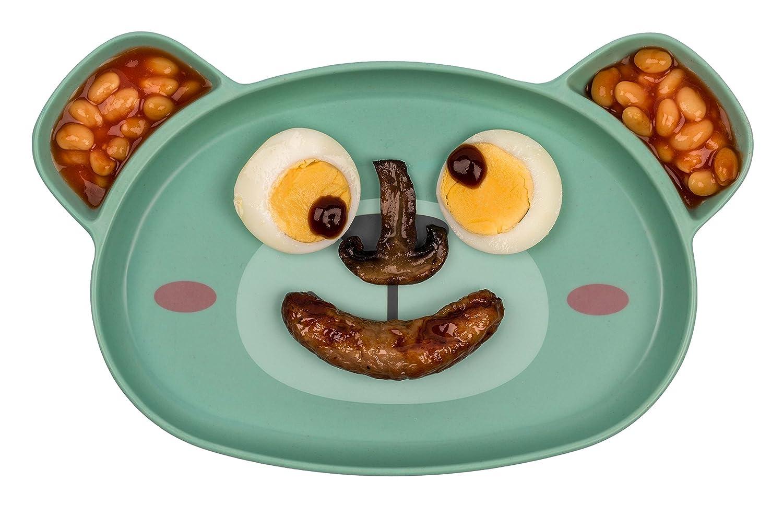 TUM TUM Dippy Face - Plato para bebé , diseñ o de oso de Boris diseño de oso de Boris TUMTUM TT5000