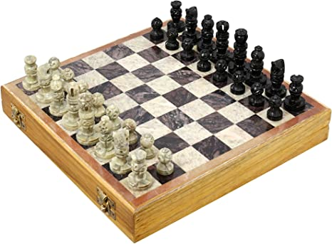 Amazon Com Rajasthan Stone Art Unique Chess Sets And Board Indian Handmade Unique Gifts Size 10x10 Inches Toys Games