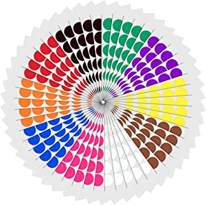 "1"" Round Color Coding Circle Dot Sticker Labels - 10 Assorted Colors, Pack of 1200"