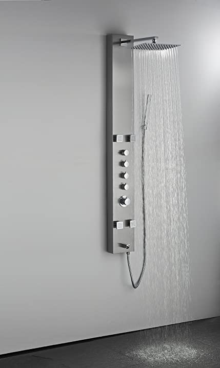 art of bath db8001ss wall mount easy connection 60 bathroom shower panel system w