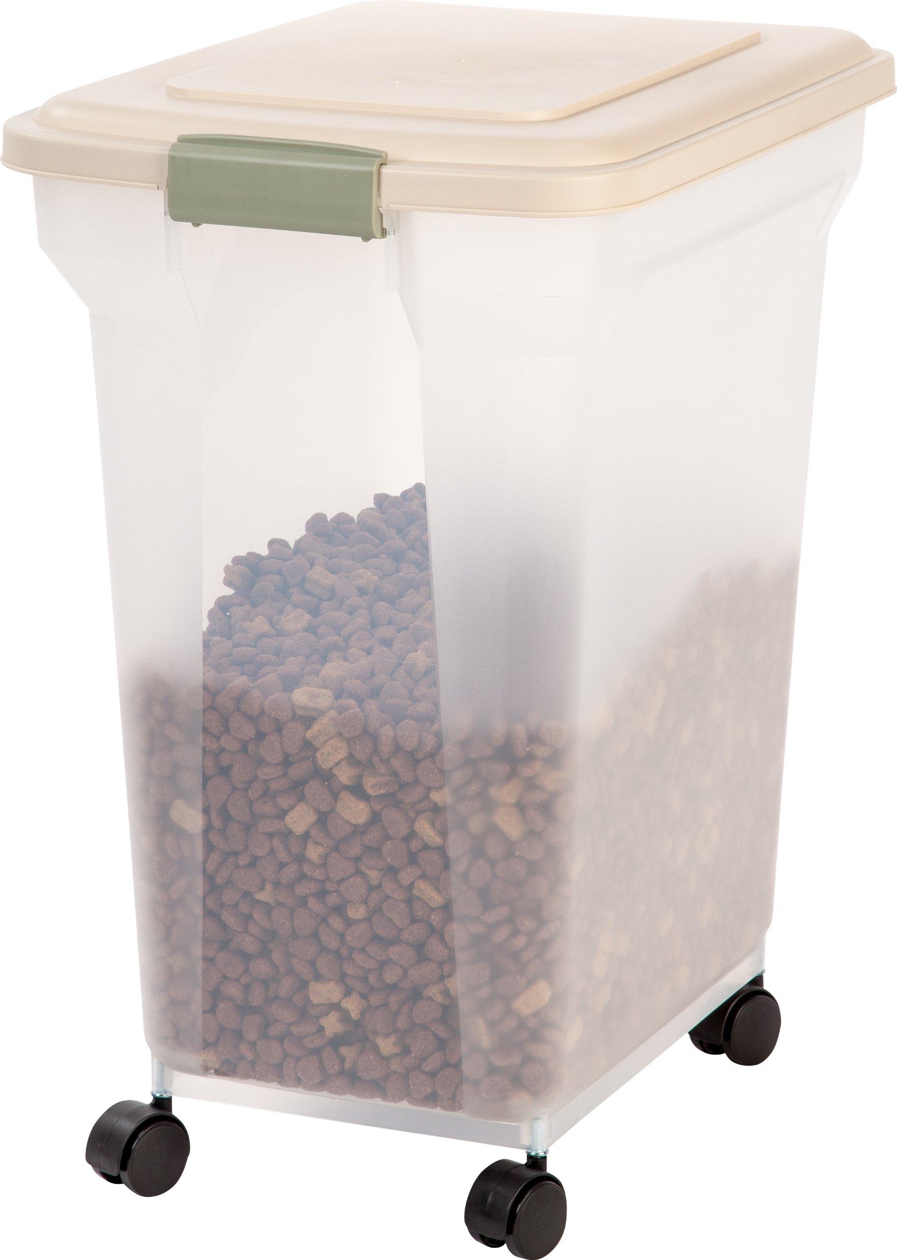 IRIS Premium Airtight Pet Food Storage Container, 42-Pounds,  Almond