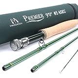 Maxcatch 3-12wt canne à pêche moulinet moyen-rapide IM8 carbone avec tube cordura