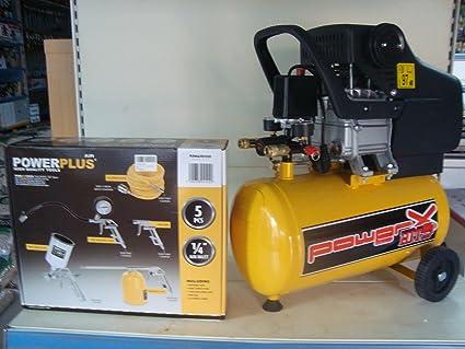 Compresor Mistral Power LT.24 de aceite 8 bar 2 HP 2 col Kit 5