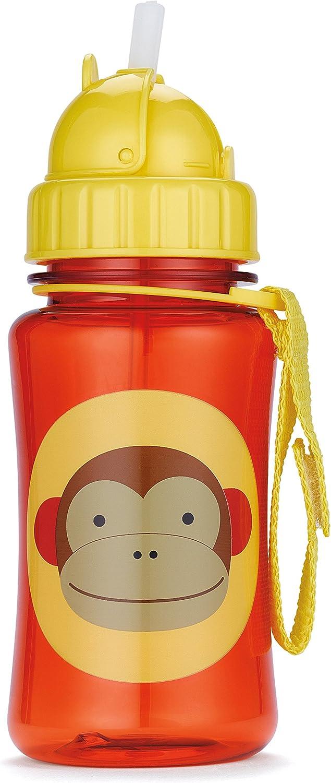 Skip Hop Zoo Monkey - Botella con pajita de recambio