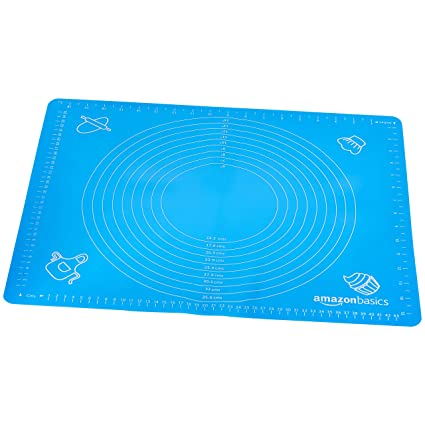 AmazonBasics - Tapete de silicona para amasar y hornear 40 x 50 cm