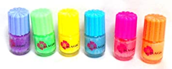 Glow In The Dark Neon Nail Polish 6 Pack