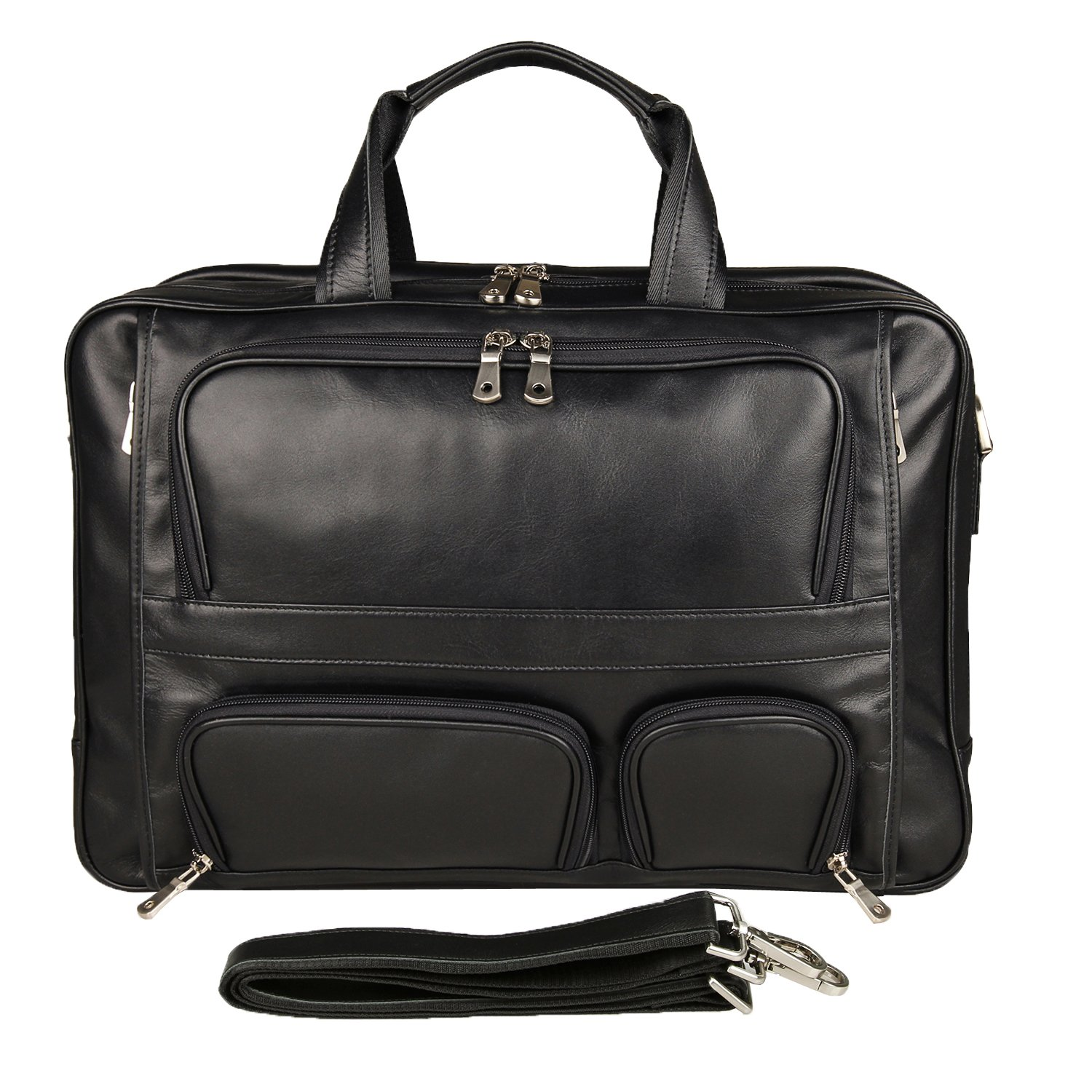 Texbo Men's Genuine Leather Business Trip Briefcase Large Bag Fit 17'' Laptop by Texbo (Image #2)