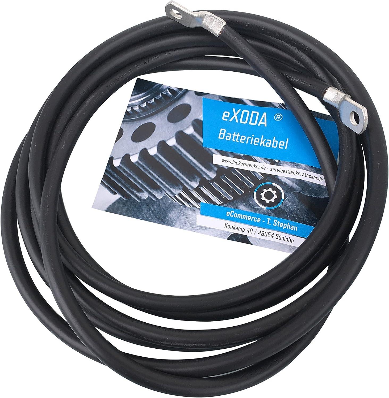 1m Câble de batterie positif 10mm² rouge 2x Cosse tubulaire M8 100cm
