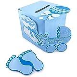 Adorox 3D Version Baby Shower Wishing Well Card Box Decoration (Boy)