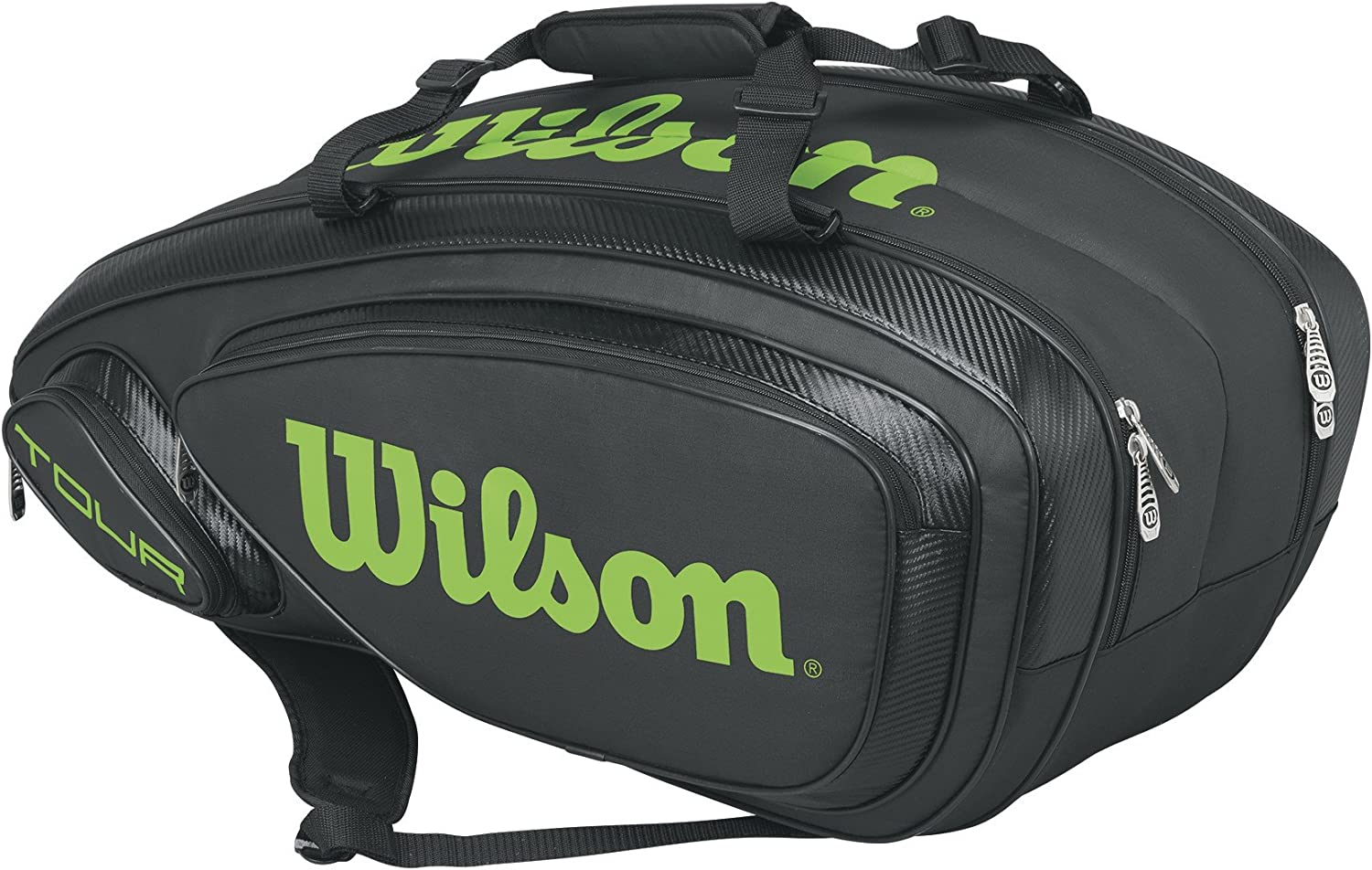 Wilson Sporting Goods Tour V 9 Pack Tennis Bag, BlackLime