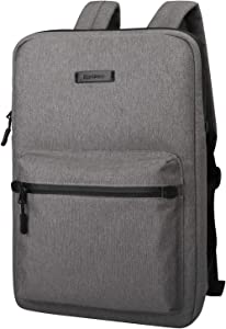 Cartinoe Ultra-Thin Laptop Backpack, Canvas Lightweight Backpack, Water Resistant College School Student Daypack for Teens Boys Girls Computer Carrying Sleeve Bag fits 13 14 15 inch MacBook, Gray