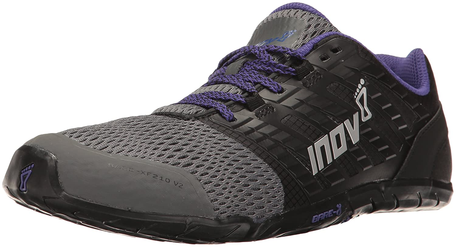 Inov-8 Women's Bare-XF 210 V2 Sneaker B01N1710I2 9.5 B(M) US|Grey/Black/Purple