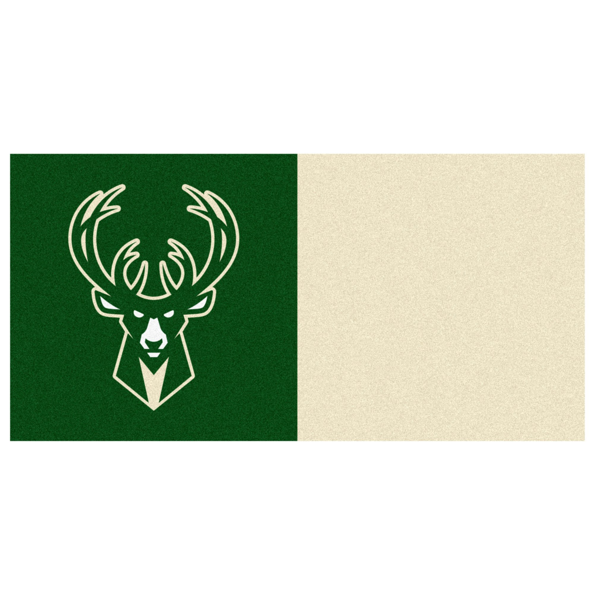 FANMATS NBA Milwaukee Bucks Nylon Face Team Carpet Tiles