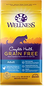 Wellness Complete Health Natural Grain Free Deboned Chicken & Chicken Meal Dry Cat Food, 2.25 Pound Bag