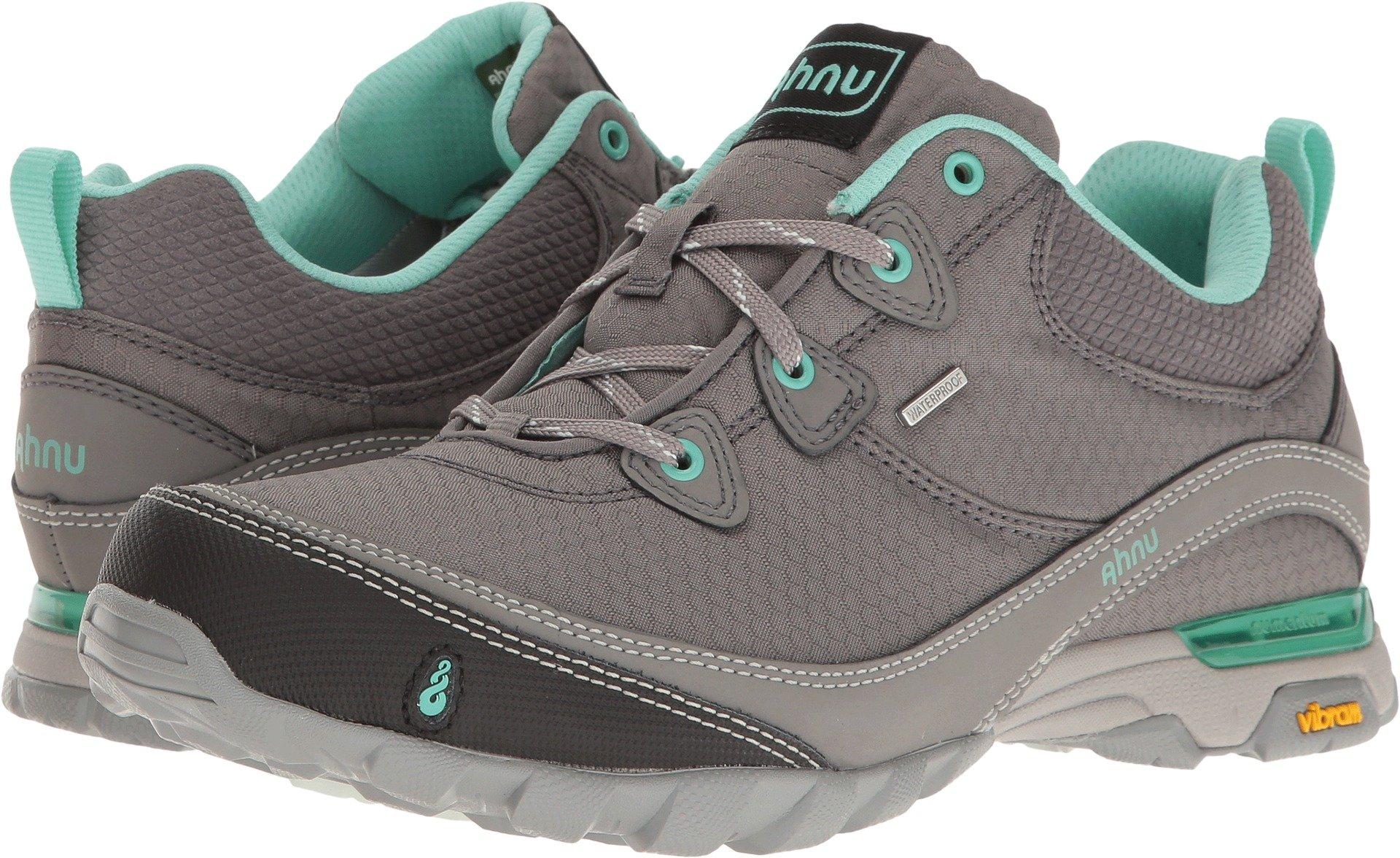 Ahnu Women's W Sugarpine Waterproof Hiking Shoe, New Dark Grey, 7 M US