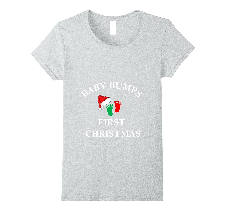 649c9738d36aa Womens CHRISTMAS MATERNITY SHIRT-BABY BUMPS FIRST-PREGNANCY T SHIRT-ANZ