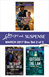 Harlequin Love Inspired Suspense March 2017 - Box Set 2 of 2: Saved by the Lawman\Saved by the SEAL\The SEAL's Secret Child\Outside the Law