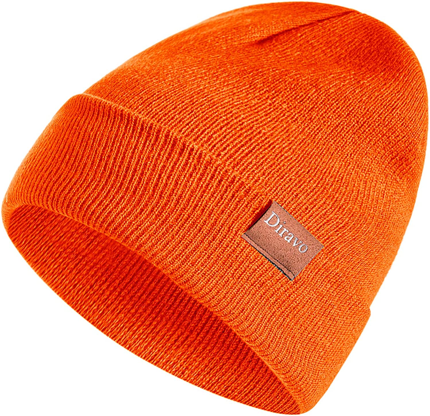 Diravo Warm Beanie Hat for Men Women Warm Cable Knitted Hat Winter Soft Stretch Chunky Cuff Beanie