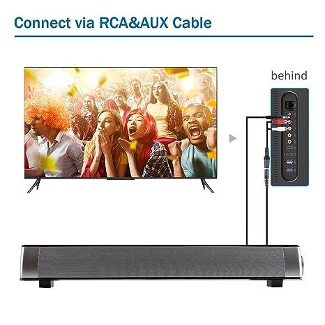 Amazon.com: Soundbar Bluetooth Sound Bar Speaker, Vipwind Sound Bar ...