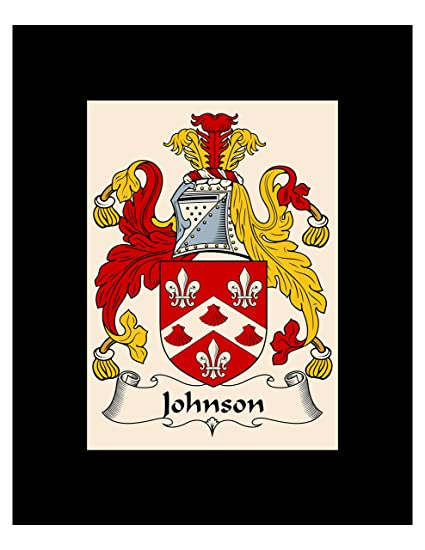 Amazon com - Carpe Diem Designs Johnson Coat of Arms/Johnson
