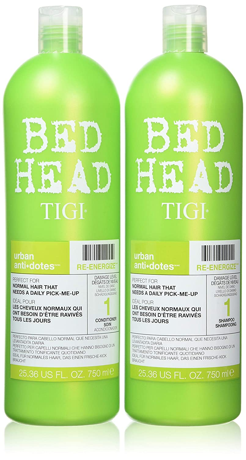 Tigi BED HEAD Tween Duo Shampoo and Conditioner Re-Energize Tween, 1er Pack (1 x 1500 ml) NLA125808 P-T5-686-01