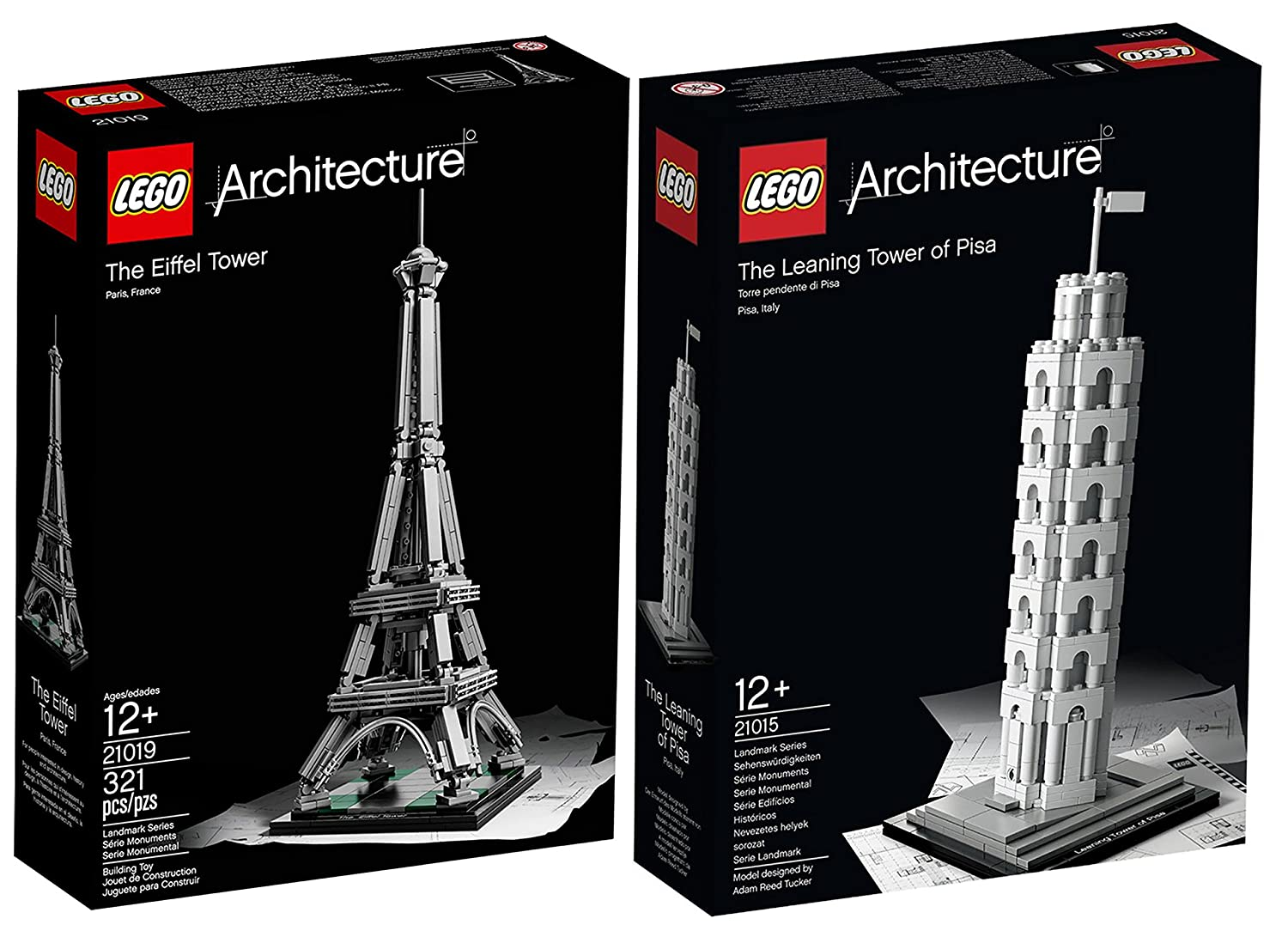 LEGO Architecture Europe Bundle: Tower of Pisa 21015 and Eiffel Tower 21019  by LEGO: Amazon.co.uk: Toys & Games