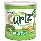 Sprout Organic Baby Food, Stage 4 Toddler Snacks, Broccoli Plant Power Curlz, 1.48 Oz Canister (6 Count)