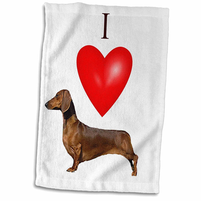 3D Rose I Love Dachshunds TWL/_17300/_1 Towel 15 x 22
