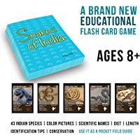 Snakes of India Flash Cards:Game and Identification Field Guide
