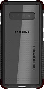 Ghostek Covert Clear Galaxy S10 Plus Case with Super Slim Thin Design and Hand Grip Shockproof Heavy Duty Protection and Wireless Charging Compatible for 2019 Galaxy S10 Plus (6.4 Inch) - (Smoke)