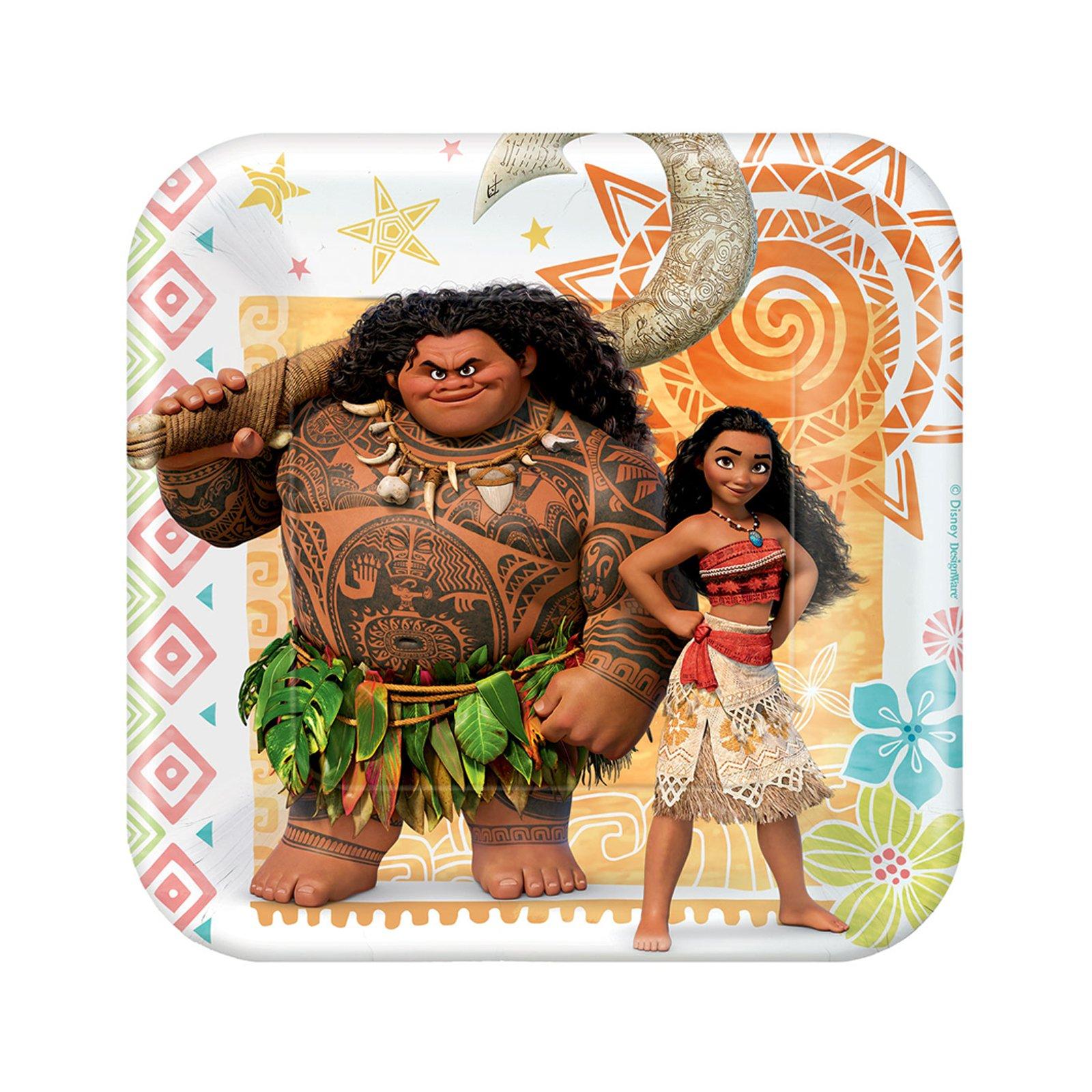BirthdayExpress Disney Moana Party Supplies - Paper Dessert Plate (24)
