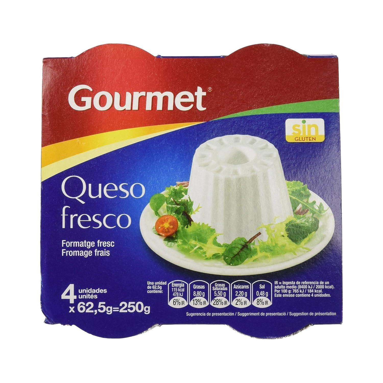 Gourmet - Queso Fresco Graso - 4 x 62.5 g: Amazon.es: Alimentación y bebidas