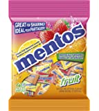 Mentos Chewy Mint Candy, Fruit, Individually Wrapped, Non Melting, 40 Piece Bulk Peg Bag