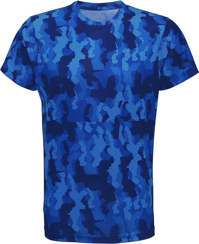 Camiseta de manga corta modelo Hexoflage Performance para hombre Tri Dri