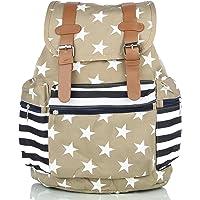 Mammon women's backpack handbag(ds-bp-khaki,Size-15x16x7 inches)