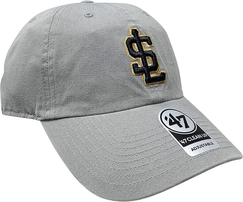 47 Salt Lake Bees Brand Clean Up /& MVP Adjustable Hats MiLB Curve Bill Cap Minor League Baseball