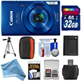 Canon PowerShot Elph 190 IS Wi-Fi Digital Camera (Red) with 32GB Card + Case + Battery + Tripod + DigitalAndMore FREE Accessory Kit