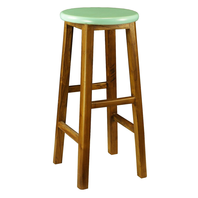 Peachy Amazon Com Porthos Home Antique Revival Brayden Stool Blue Lamtechconsult Wood Chair Design Ideas Lamtechconsultcom