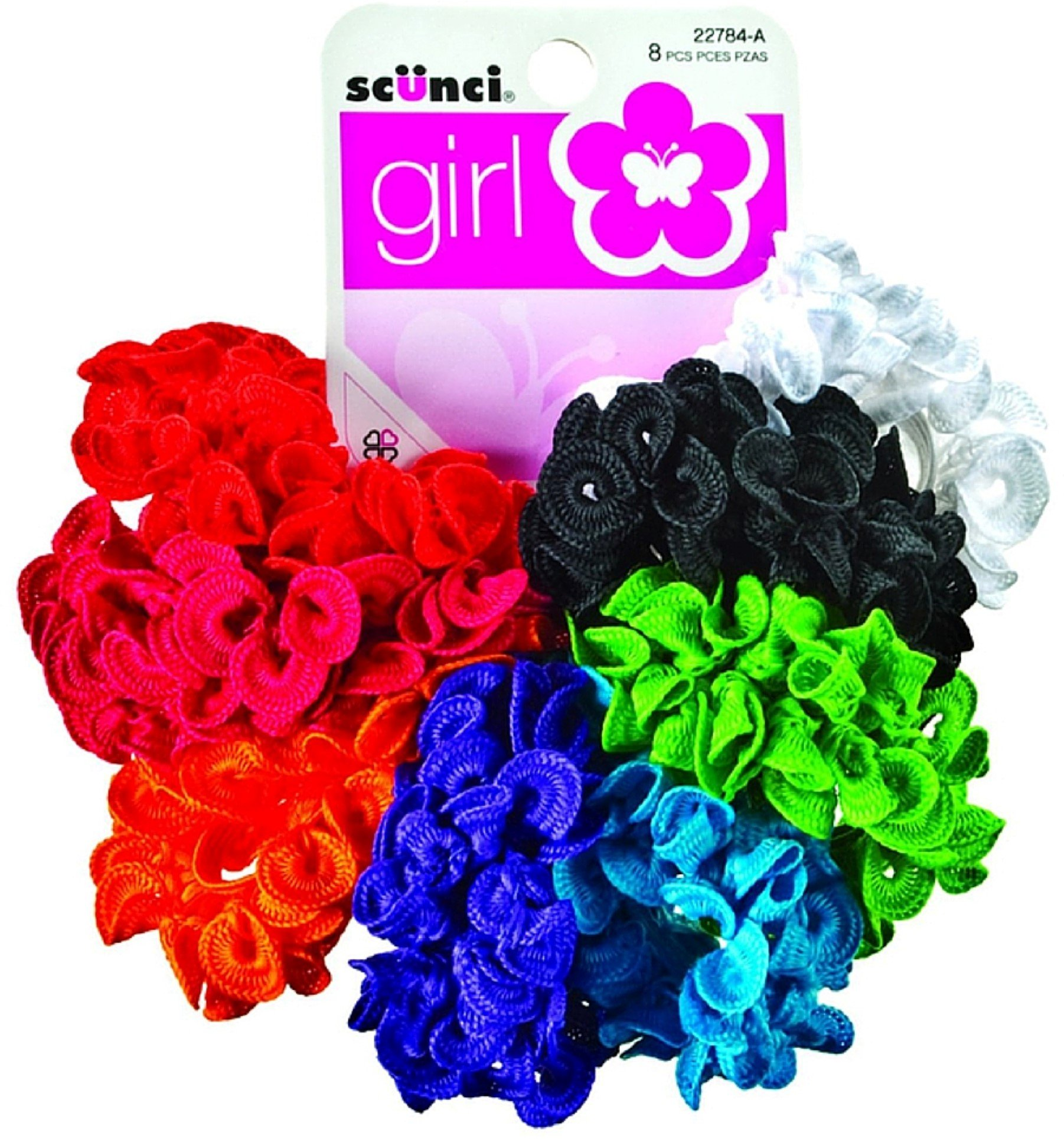 Scunci Girl Hair Scrunchies, Assorted 8 ea (Pack of 9) by Conair Corporation