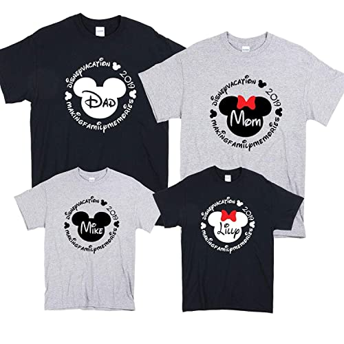 e6d5109b8 Amazon.com: Custom Family Vacation Shirts, Minnie Mickey Mouse Shirts,  Women Men Youth Toddler Matching Vacation Family Shirts 2019: Handmade