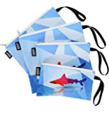 QOGiR Reusable Snack Bags and Sandwich Bags with Handle: Lead-free,BPA-free,PVC-free,FDA PASSED (Shark)