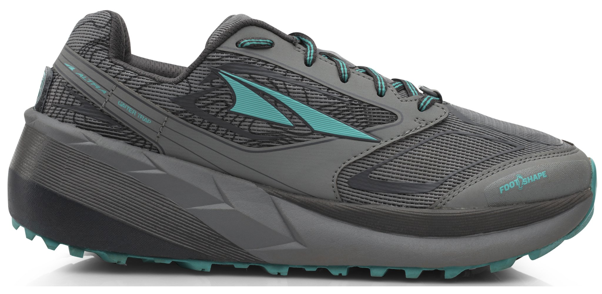 Altra AFW1859F Women's Olympus 3 Trail Running Shoe, Gray/Teal - 12 B(M) US by Altra (Image #1)