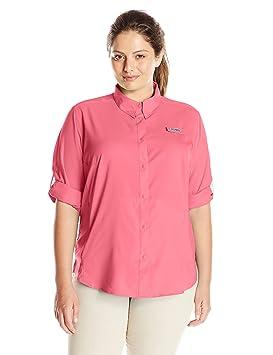 Columbia Camisa de manga larga para mujer Tamiami Ii, Lollipop, 1X