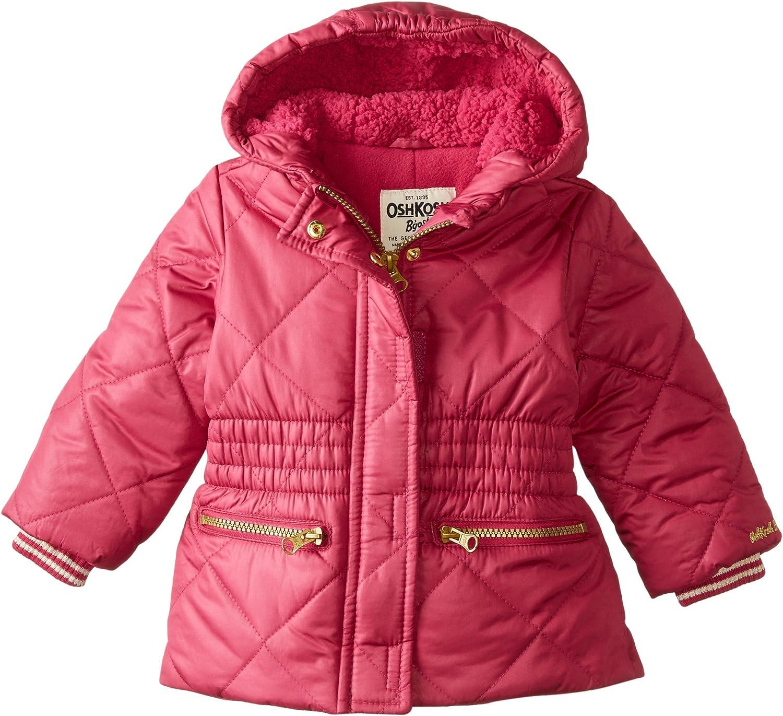 Osh Kosh Baby Girls Heavyweight Cinched Waist Jacket 18 Months Raspberry