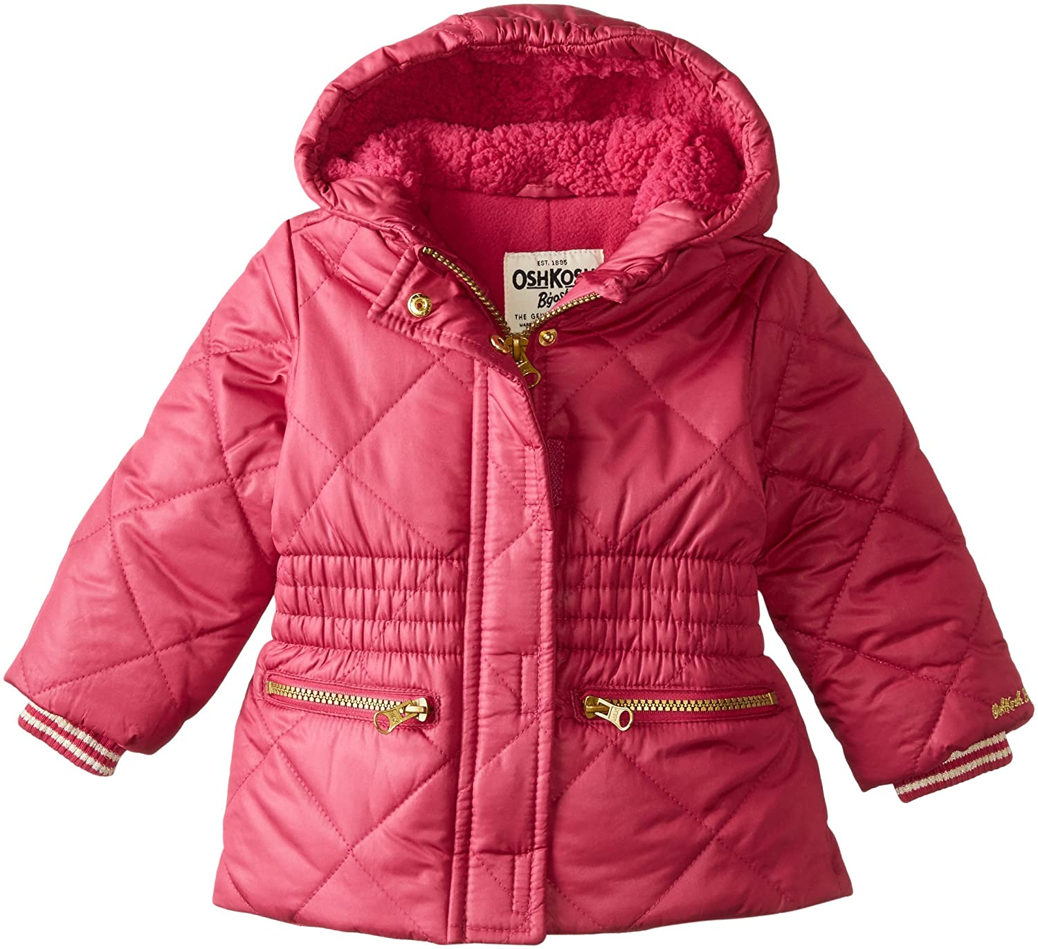 OshKosh Baby-Girls Baby Heavyweight Cinched Waist Jacket Raspberry 18 Months Osh Kosh Baby B215515