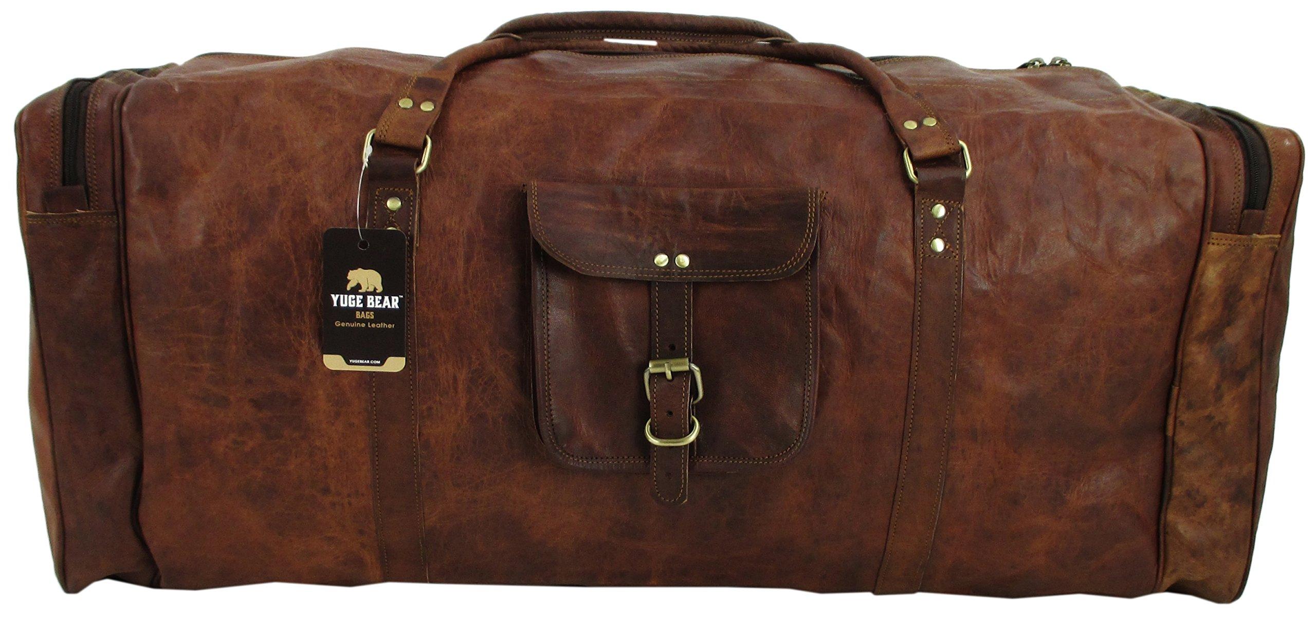 Yuge Bear 32'' DS3 XXL Oversized Vintage Genuine Leather Travel Duffel Bag