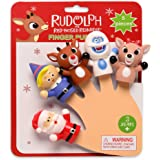 Rudolph The Red-Nosed Reindeer Finger Puppets- 5 Pieces