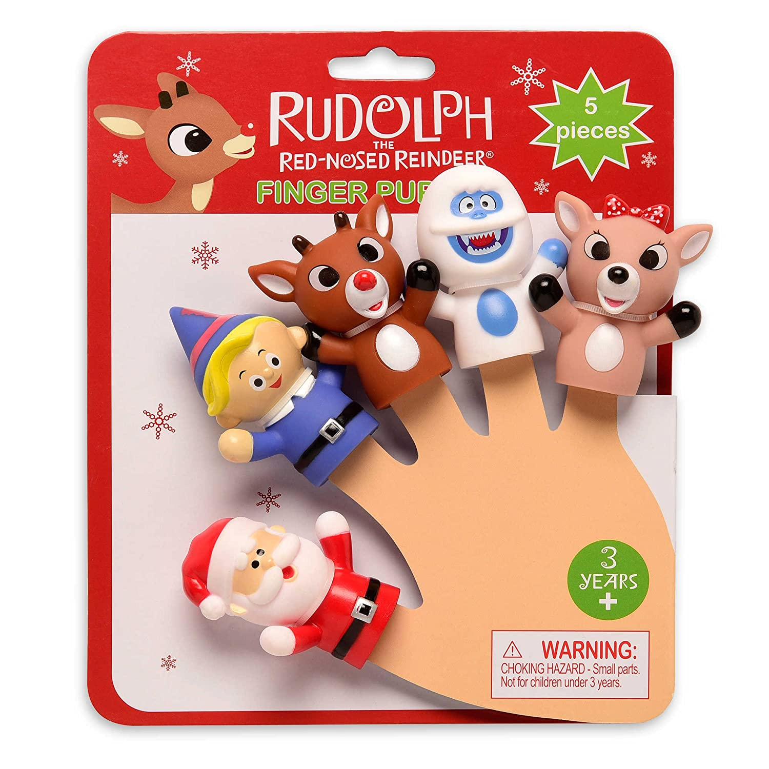 Rudolph The Red-Nosed Reindeer Finger Puppets- 5 Pieces Prestige Toy Corp 96621